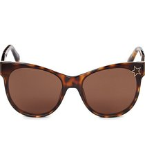 stella mccartney women's 61mm squared cat eye sunglasses - havana