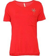 blusa lunender coqueiro vermelha - kanui