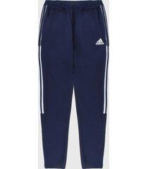 pantalón azul navy-blanco adidas performance tiro 21