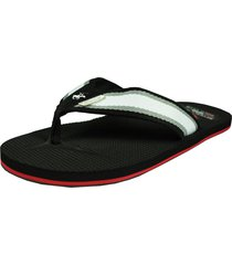 sandalia stripe black para hombre