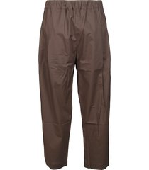 laneus army green cotton trousers