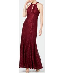 nightway lace keyhole-cutout gown, regular & petite sizes