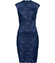 abito in pizzo con paillettes (blu) - bodyflirt boutique