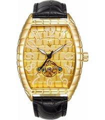 reloj, relojes de los hombres reloj de cocodrilo-dorado