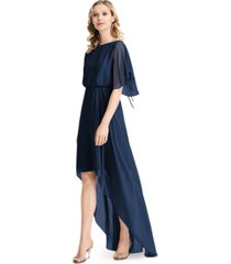 jenny packham flutter-sleeve high-low a-line dress