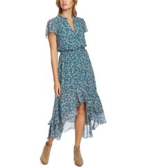 1.state printed high-low midi dress