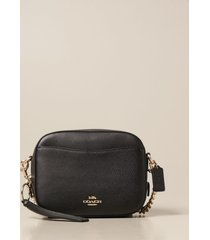 coach crossbody bags coach bag in textured leather with logo