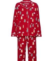 pyjama long pyjamas röd pj salvage