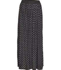 kaingrid mesh skirt knälång kjol svart kaffe
