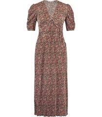 freebird plisse-flower-pes-01 short sleeve midi dress gayla pink