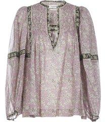 isabel marant étoile violette shirt