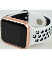 relógio smartwatch fitgear skill pro branco/rosa