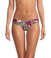 commando women's gram camo & floral bikini panty - size m/l