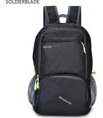 mochila/ plegable al aire libre que acampa que camina-negro