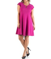 24seven comfort apparel women's plus size keyhole neck dress