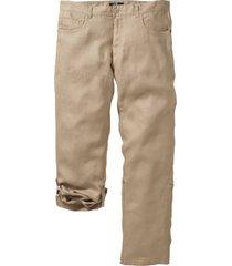 pantaloni in lino regolabili regular fit (beige) - bpc selection