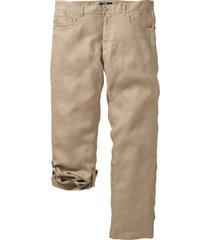 pantaloni in lino regolabili regular fit straight (beige) - bpc selection