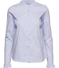 mattie stripe shirt overhemd met lange mouwen blauw mos mosh