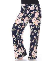 white mark plus size floral print palazzo pants