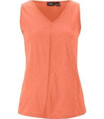 top in jersey con scollo a v (arancione) - bpc bonprix collection