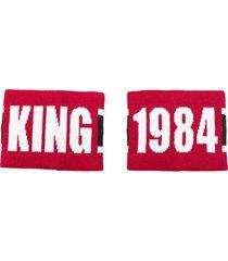 dolce & gabbana braceletes 'king' - vermelho