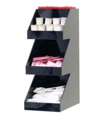 mind reader acrylic 3-tier high quality coffee /tea condiment organizer
