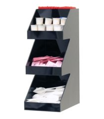 mind reader acrylic 3-tier high quality coffee /tea condiment organizer