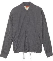 'glare crinkle' drawstring hem bomber jacket