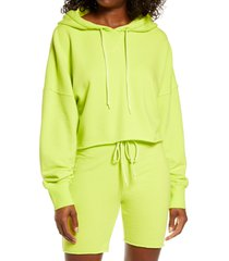 women's ugg keira crop hoodie, size x-large - yellow