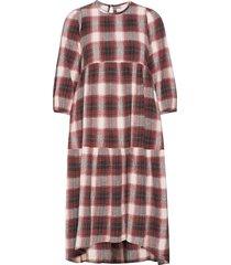 brave dress check knälång klänning multi/mönstrad moshi moshi mind