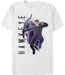 marvel men's avengers galaxy painted hawkeye short sleeve t-shirt