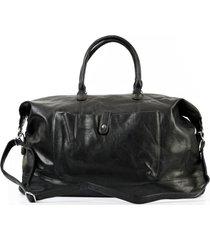 bolso de viaje bolsillo negro mailea