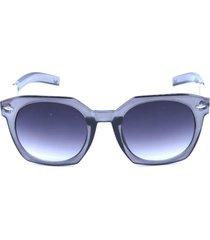 óculos de sol prorider cinza com animal print na haste