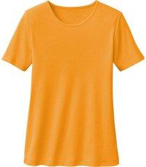 biokatoenen shirt met ronde hals, mango 40