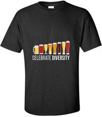 celebrate beer diversity funny novelty t-shirt men