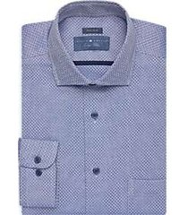 joseph abboud indigo blue dress shirt blue jacquard
