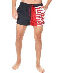traje de baño azul-rojo-blanco tommy hilfiger