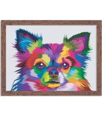 quadro decorativo animal meu melhor amigo cachorro abstrato madeira - médio