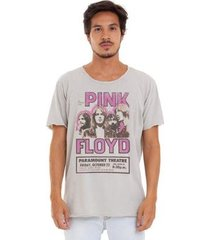 camiseta estonada corte à fio estampada joss pink floyd masculina