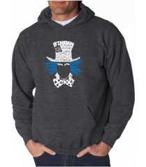 la pop art men's word art hoodie - the mad hatter