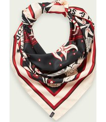 scotch & soda oversized silky bandana scarf
