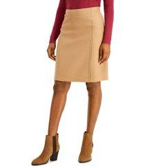 weekend max mara a-line wool skirt