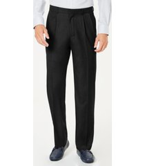 dockers men's classic-fit performance stretch double-pleated dress pants