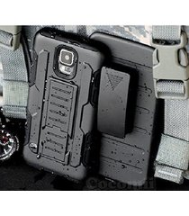 galaxy s5 active case dual layer belt clip bumper best armor protection cover