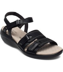 alexis shine shoes summer shoes flat sandals svart clarks