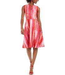 n natori printed a-line dress