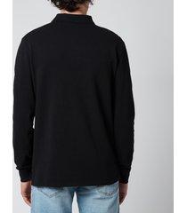 polo ralph lauren men's slim fit mesh long sleeve polo shirt - polo black - xxl
