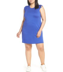 plus size women's gibsonlook x hi sugarplum! laguna soft jersey ruffle back t-shirt dress, size - (plus size) (nordstrom exclusive)