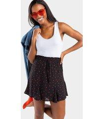 korey heart and kisses skirt - black
