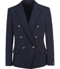 balmain regular fit double-breasted blazer
